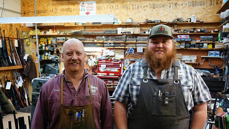 Tyler and Jordan Gunsmiths at Capital Sports in Helena